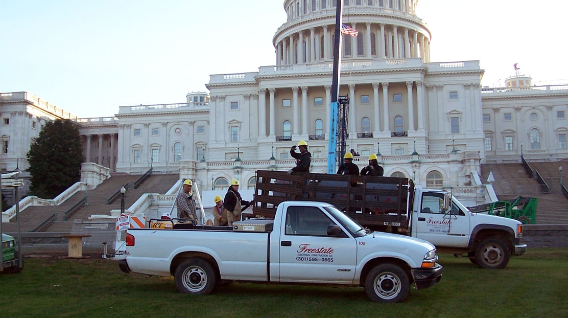 FreeState Pickup Truck and Employees in front of US Capitol Building